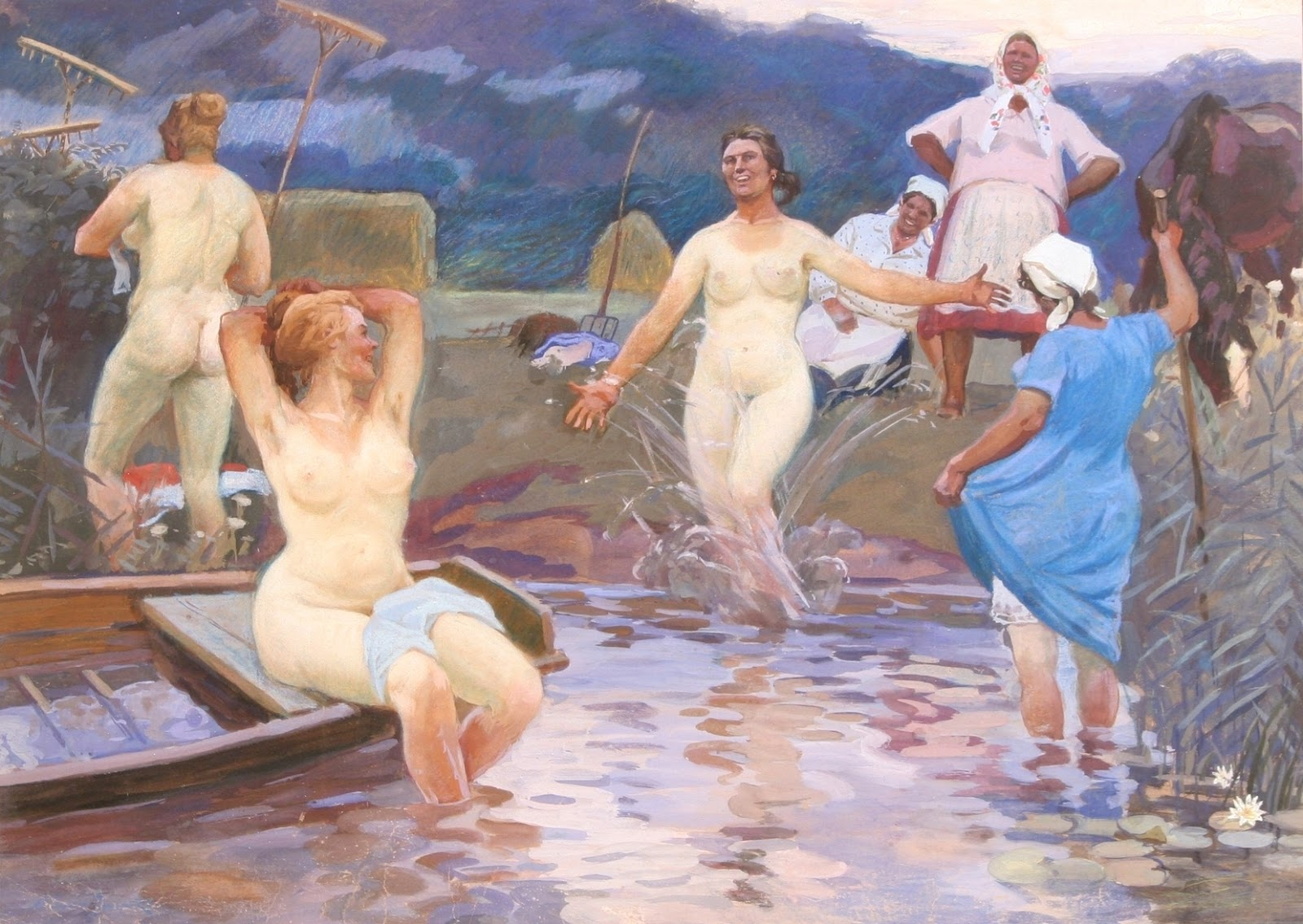 9-porno.ru В бане женщины купаются