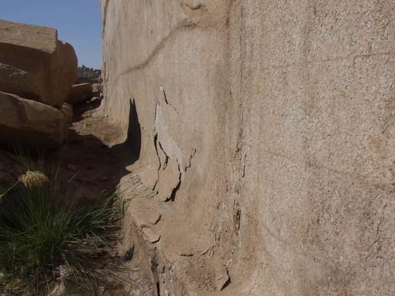 Отслоения в асуанском граните. Загадки технологий Древнего Египта