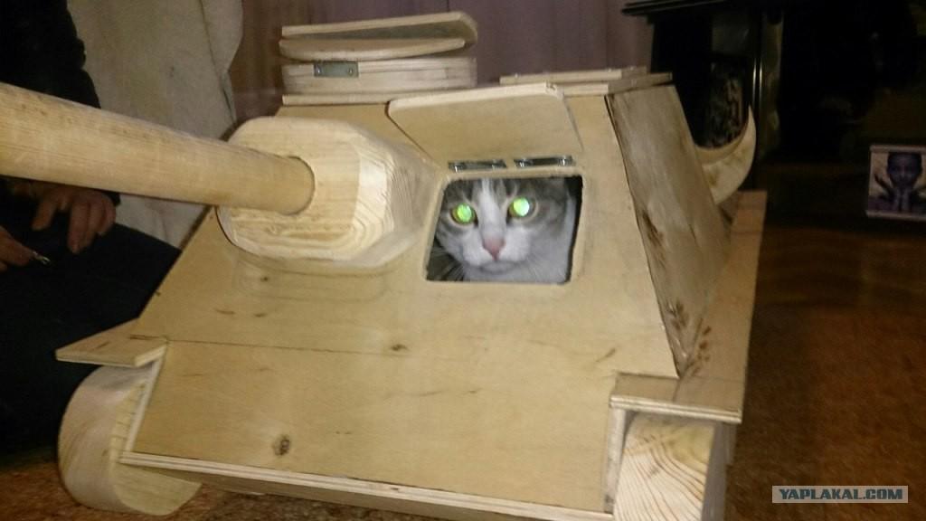 Чертежи домики для кошек 3