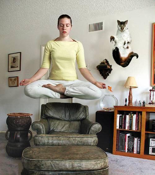 как смешная картинка про медитацию высшее