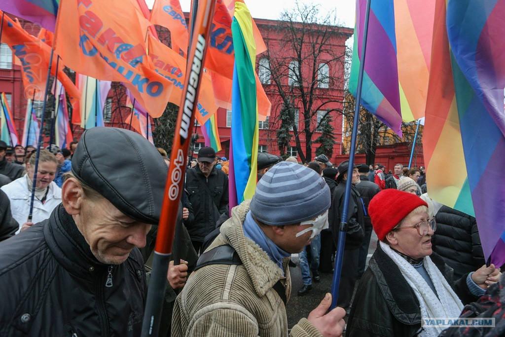 Гомосексуалисты евросоюза на евромайдане