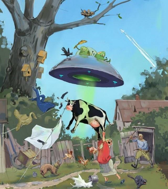 Первым днем, смешные картинки с инопланетянами