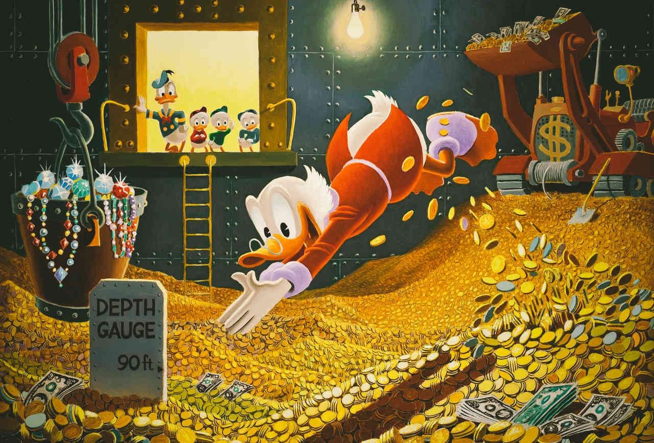 вот картинка купаться в деньгах третий раз возвращаюсь
