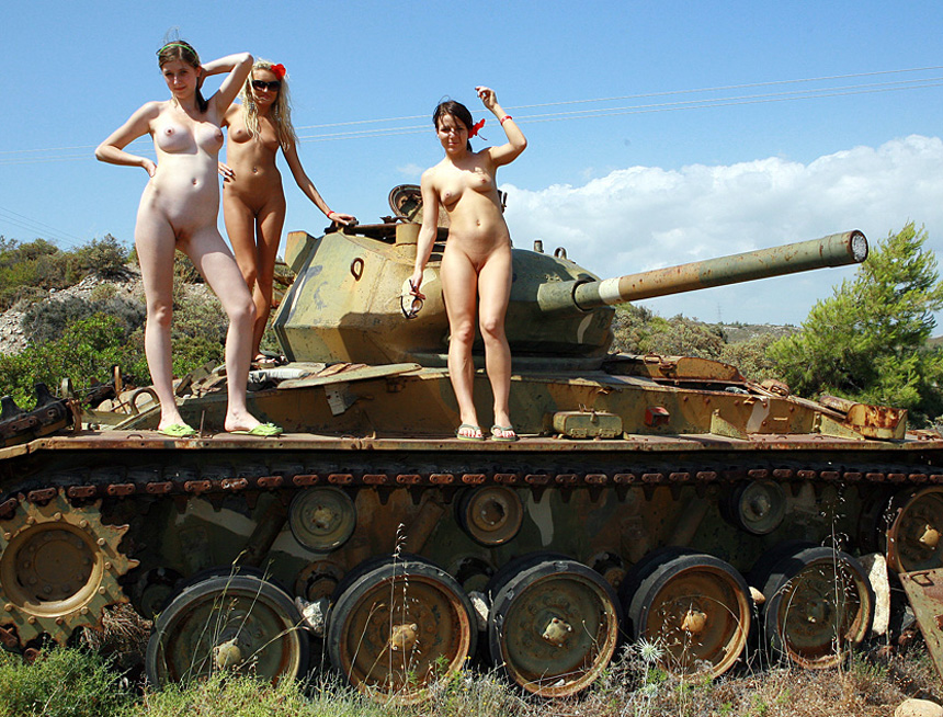 Nude Russian Babes On A Tank