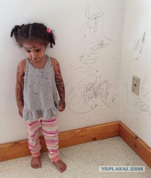 13 фото детей, которых на секунду оставили в комнате одних
