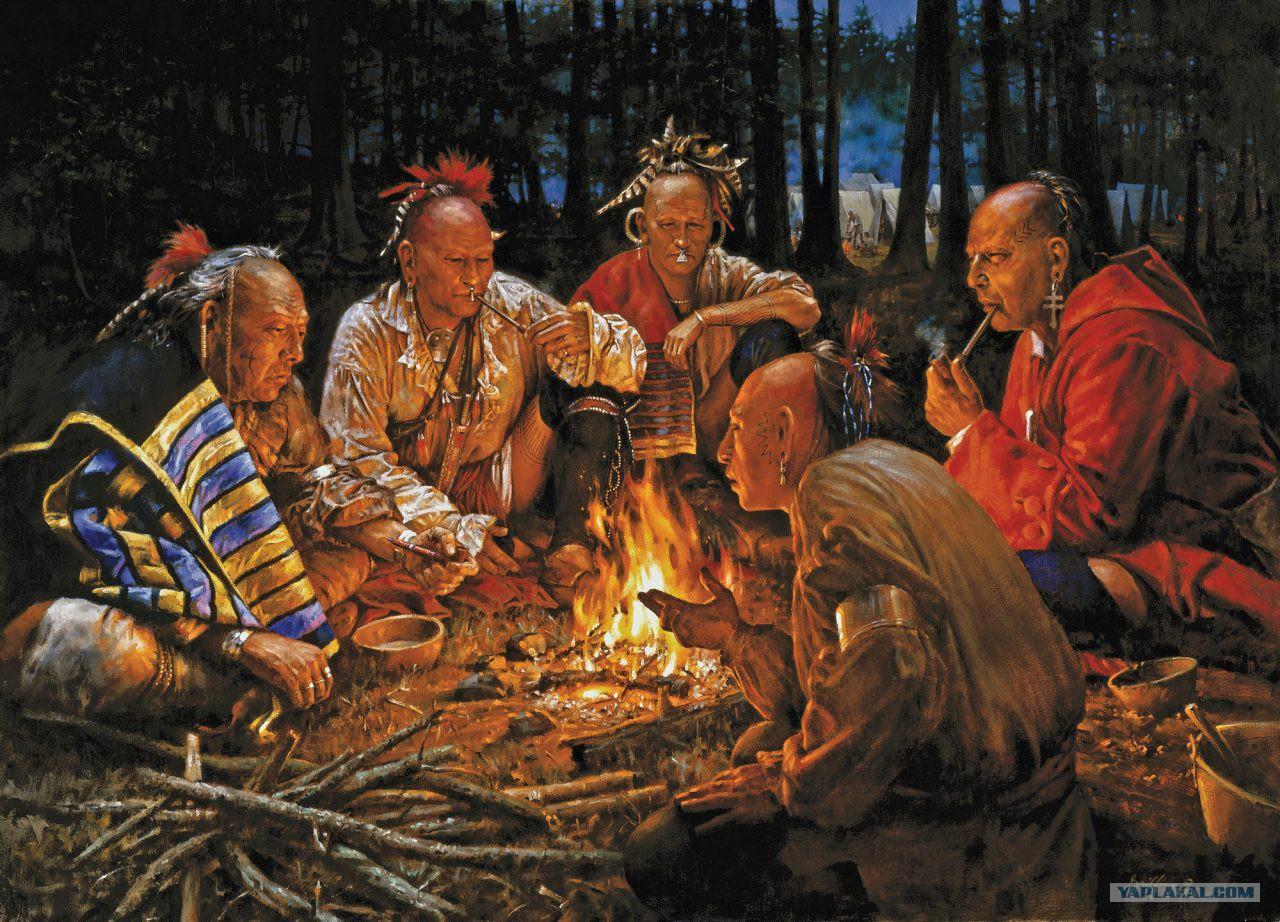 Индейцы в кругу картинки