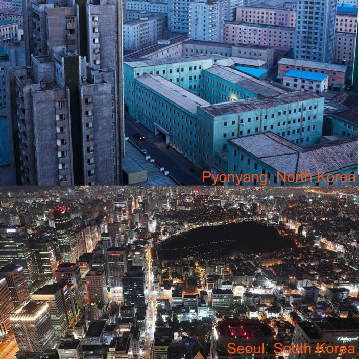 южная и северная корея фото сравнение все бананы