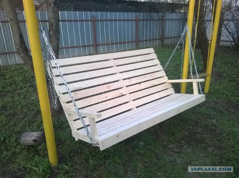 Качеля скамейка своими руками
