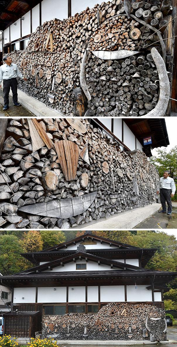 Раскладывать красиво дрова — тоже искусство