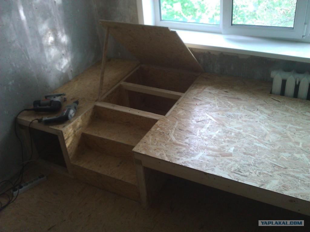 Как своими руками сделать подиум под кровать?.