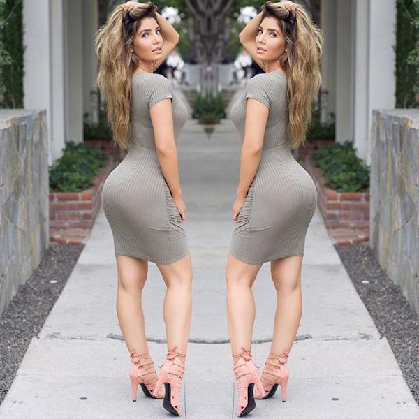 Красивые девушки в облегающем платье фото 357-735