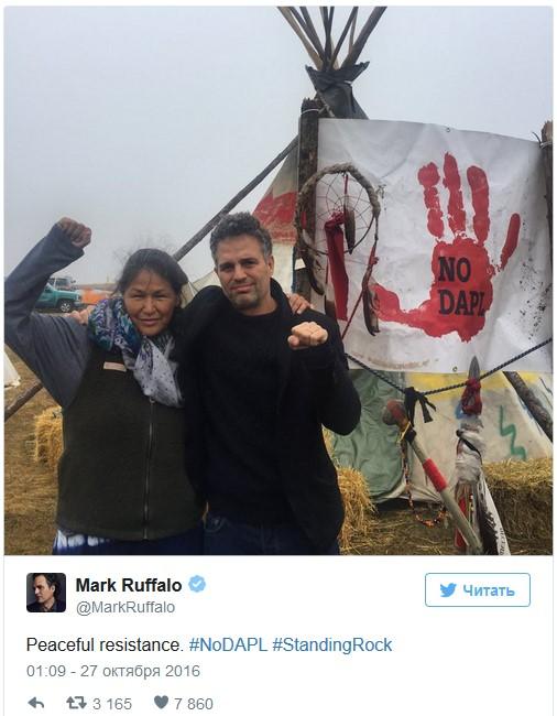 «У нас есть Тор и Халк»: как голливудские знаменитости поддерживают протестующих в Северной Дакоте