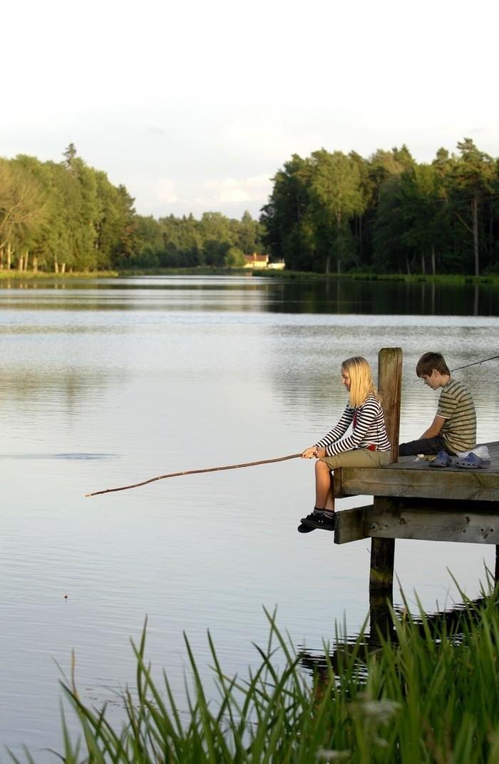 Картинки рыбалка в деревне
