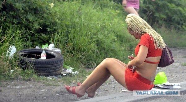 съем на трассе проституток