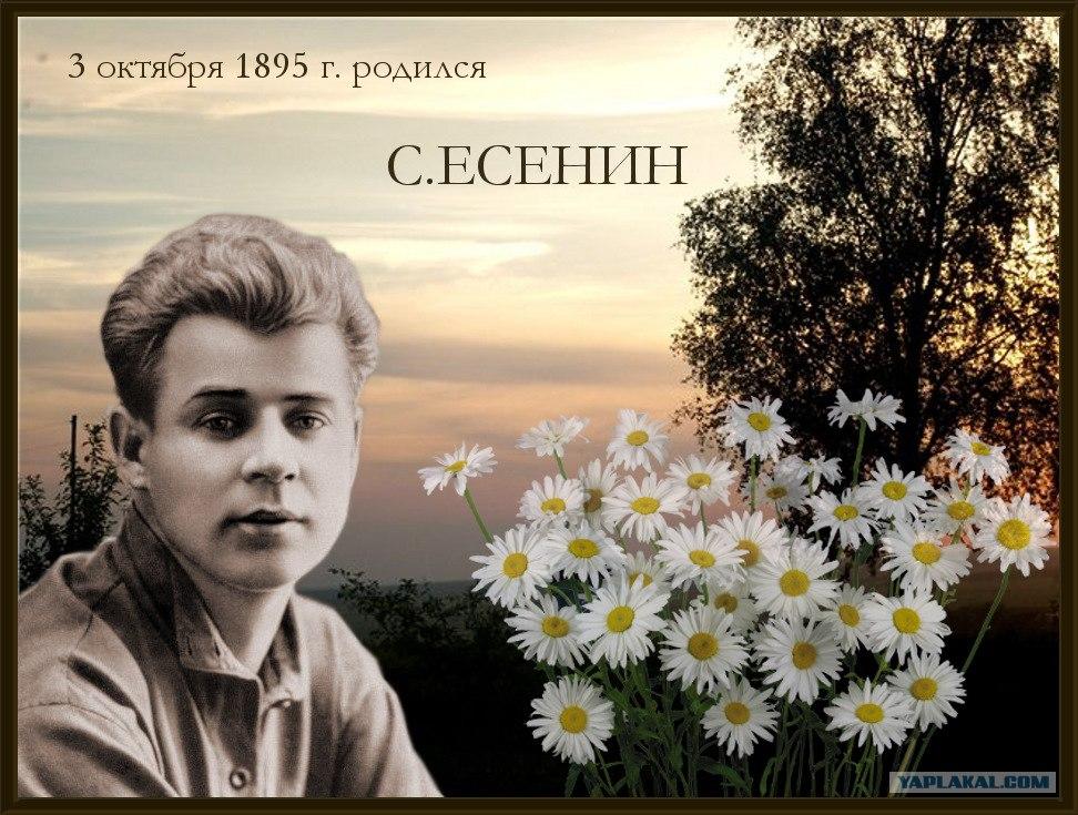 Мая, открытка есенин с днем рождения