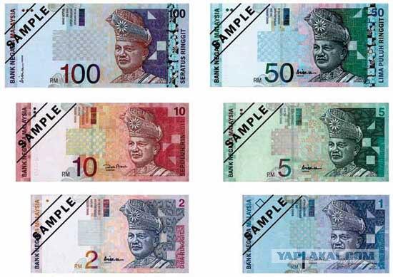 Купюры малайзии монетка марьино