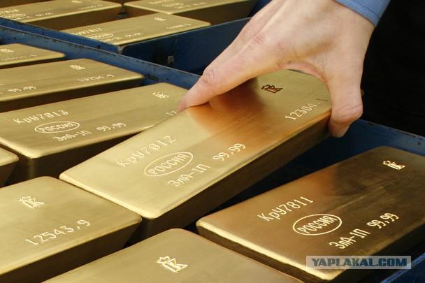 Золотой запас россии достиг максимального уровня - Яплакалъ.