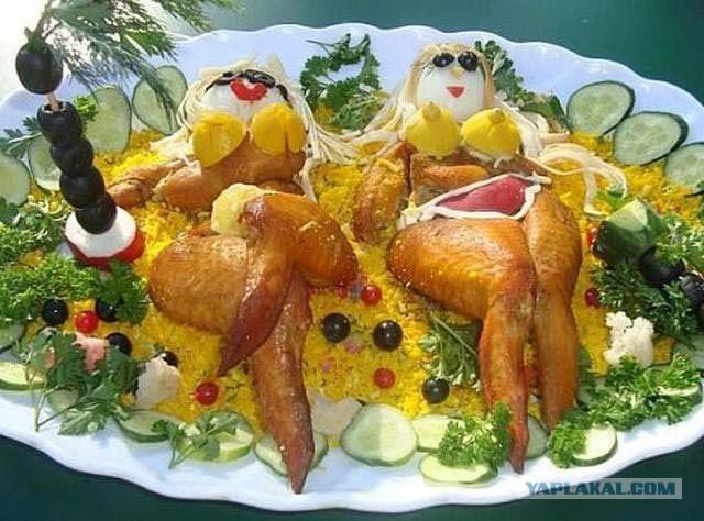 Прикольные салатики с фото