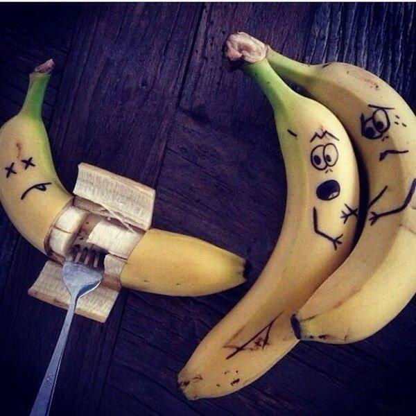 Картинки бананы прикол, днем