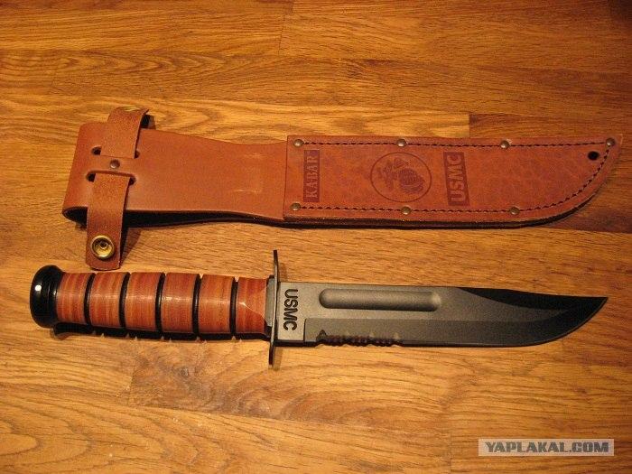 Армейский пехотный нож ka-bar usmc абхазкий охотничий нож