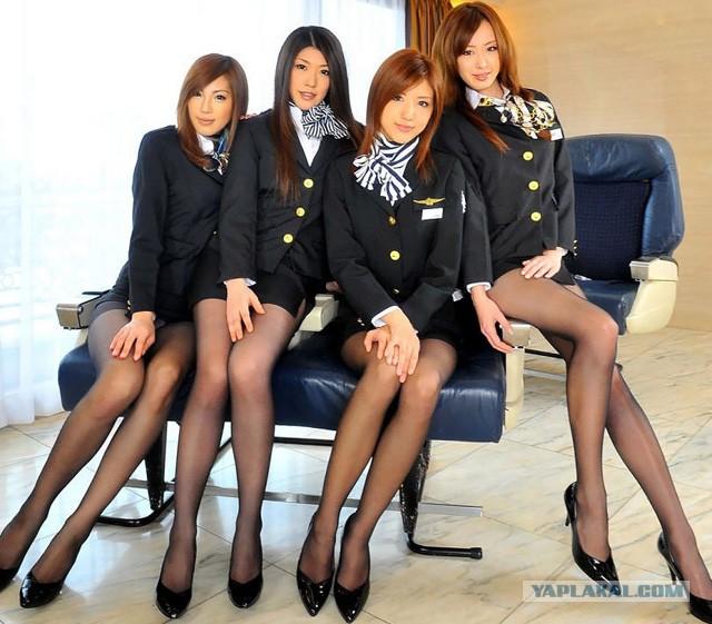 Порно фото японских стюардес фото 533-228