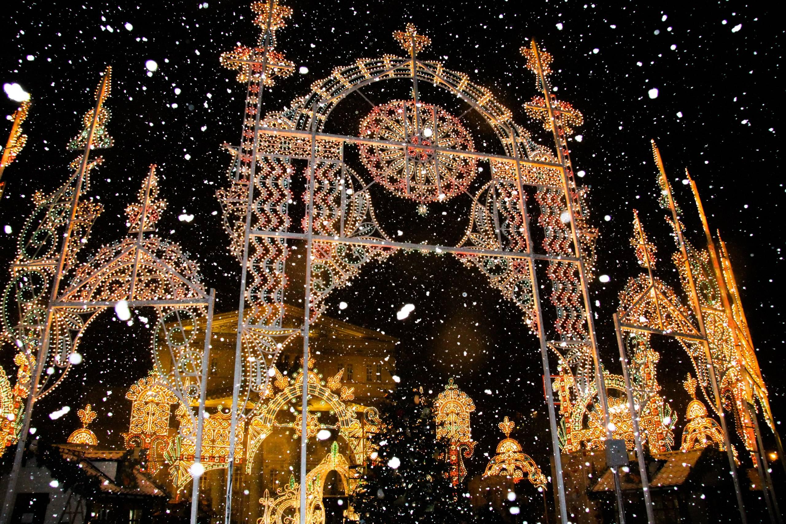рождественский свет фестиваль в москве фото компания