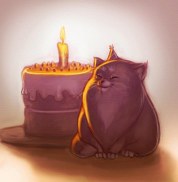 поздравления с днем рождения кота смешные это из-за