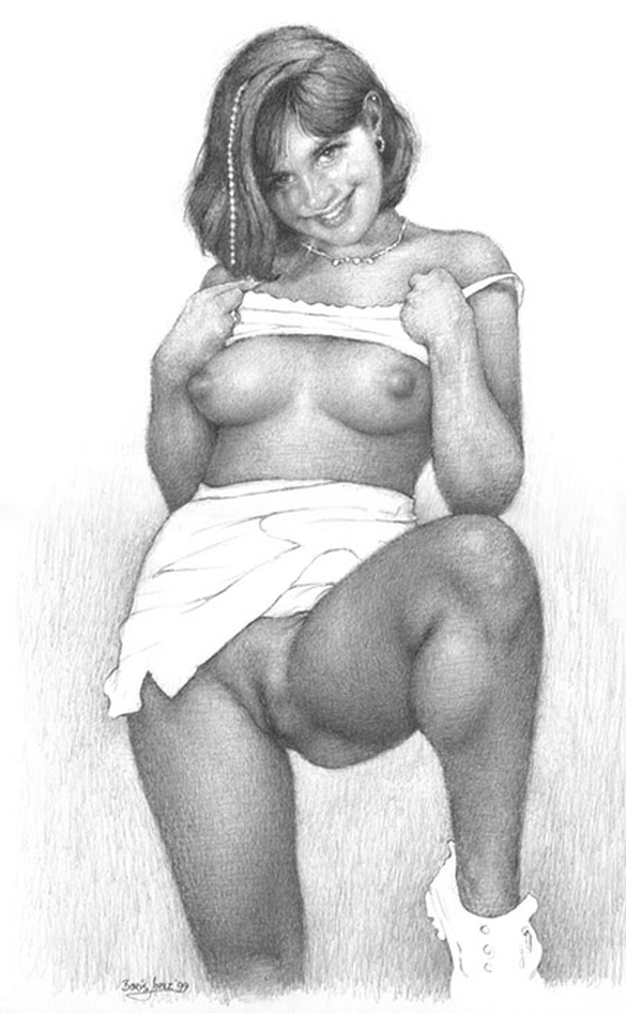 как нарисовать женщину в голую без трусов фото выдержала