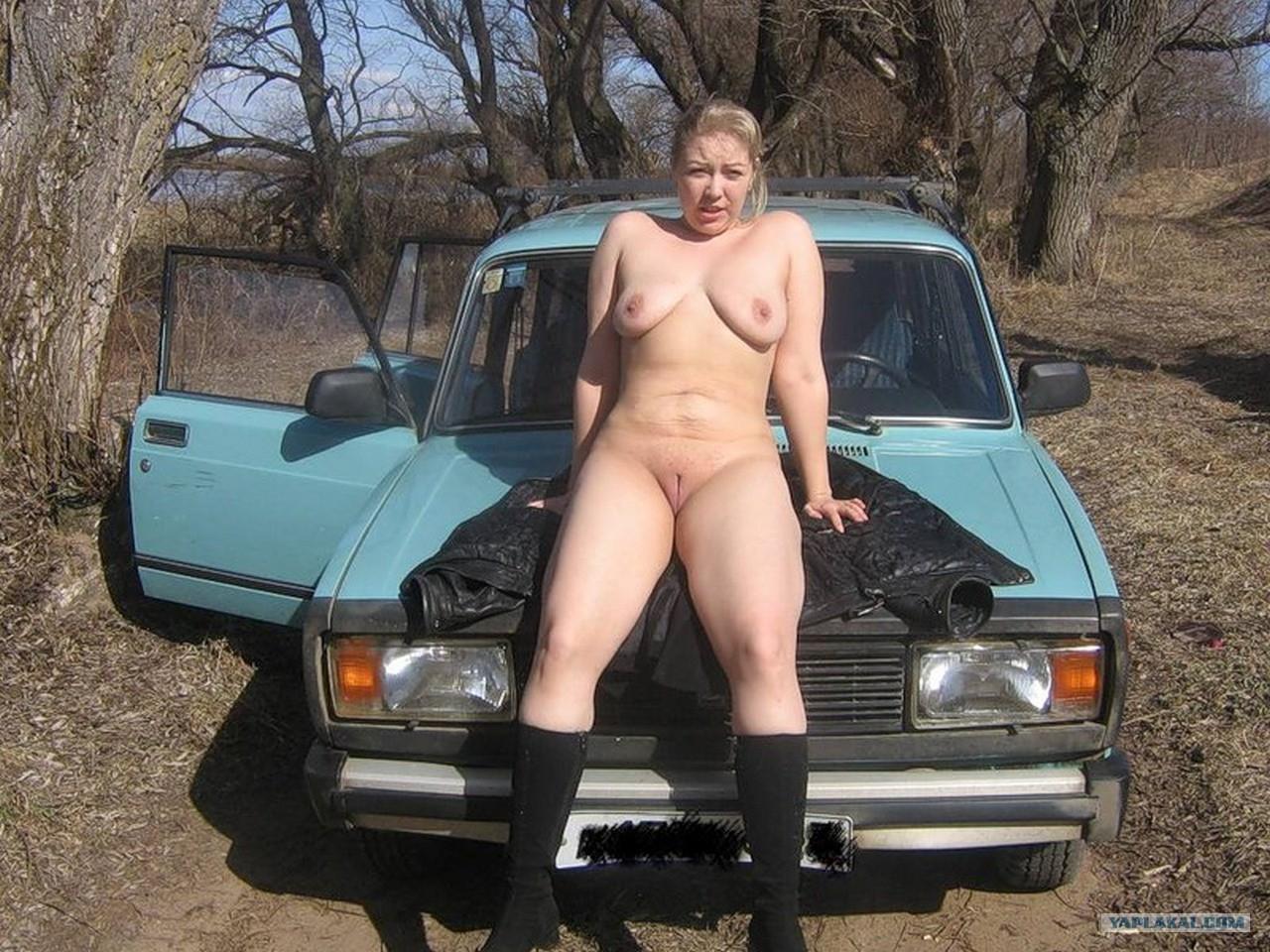 Русское порно на природе дальнобойщиков