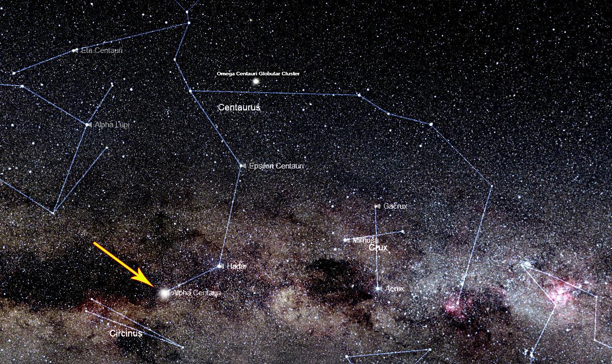 alpha centauri constellation - 1199×715