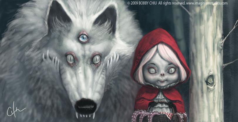 Шапочка волк онлайн красная и