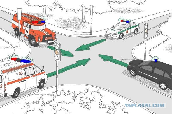 Правила дорожного движения спецсигналы
