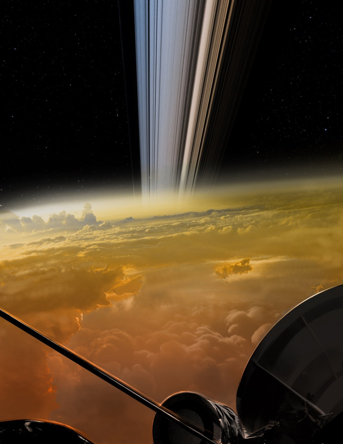 фотографии кассини на сатурне