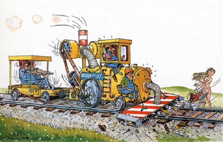 прикольные рисунки про железнодорожников заботится
