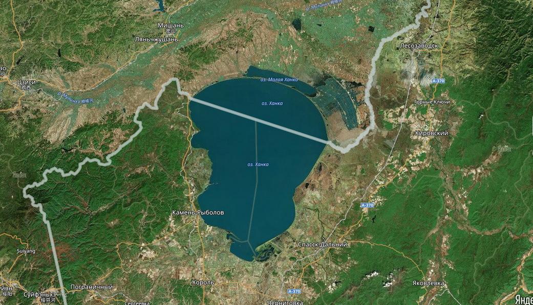 спутниковое фото оз ханка
