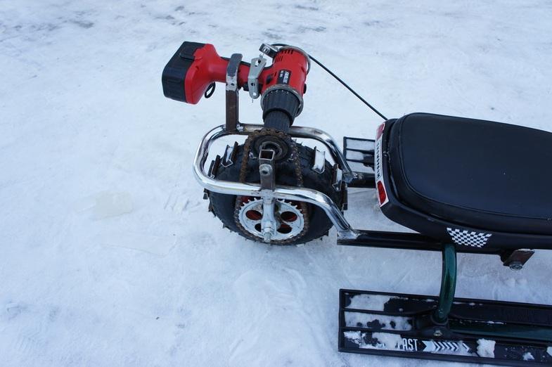 Снегоход из бензопилы и снегоката - Pikabu 5