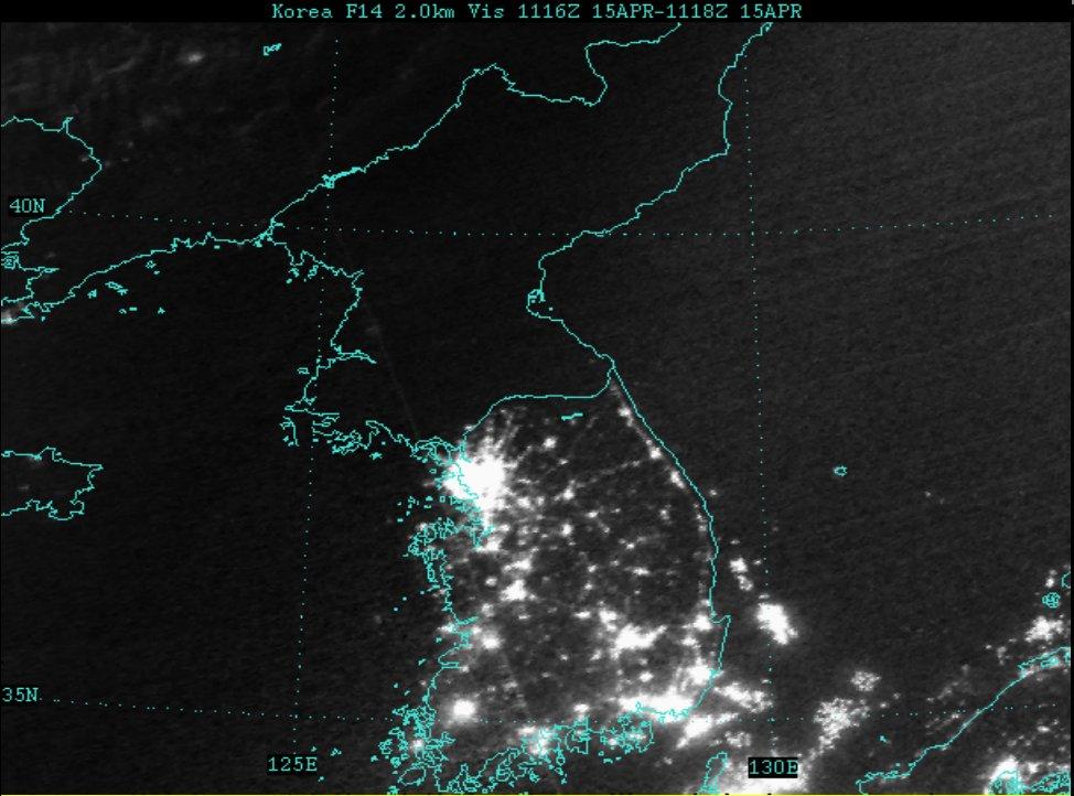 страницах северная корея фото со спутника новорождённого