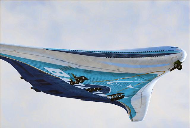 Boeing 797. Фото и видео