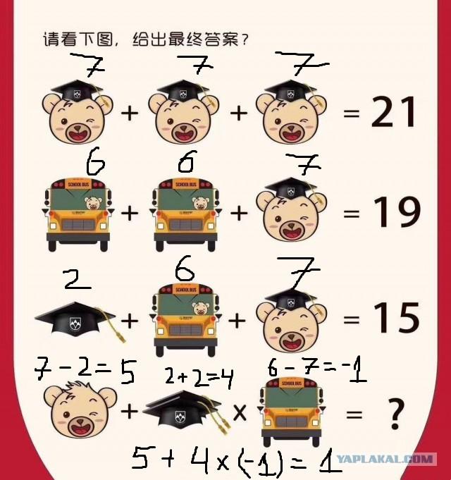 Китайский головоломки в картинках
