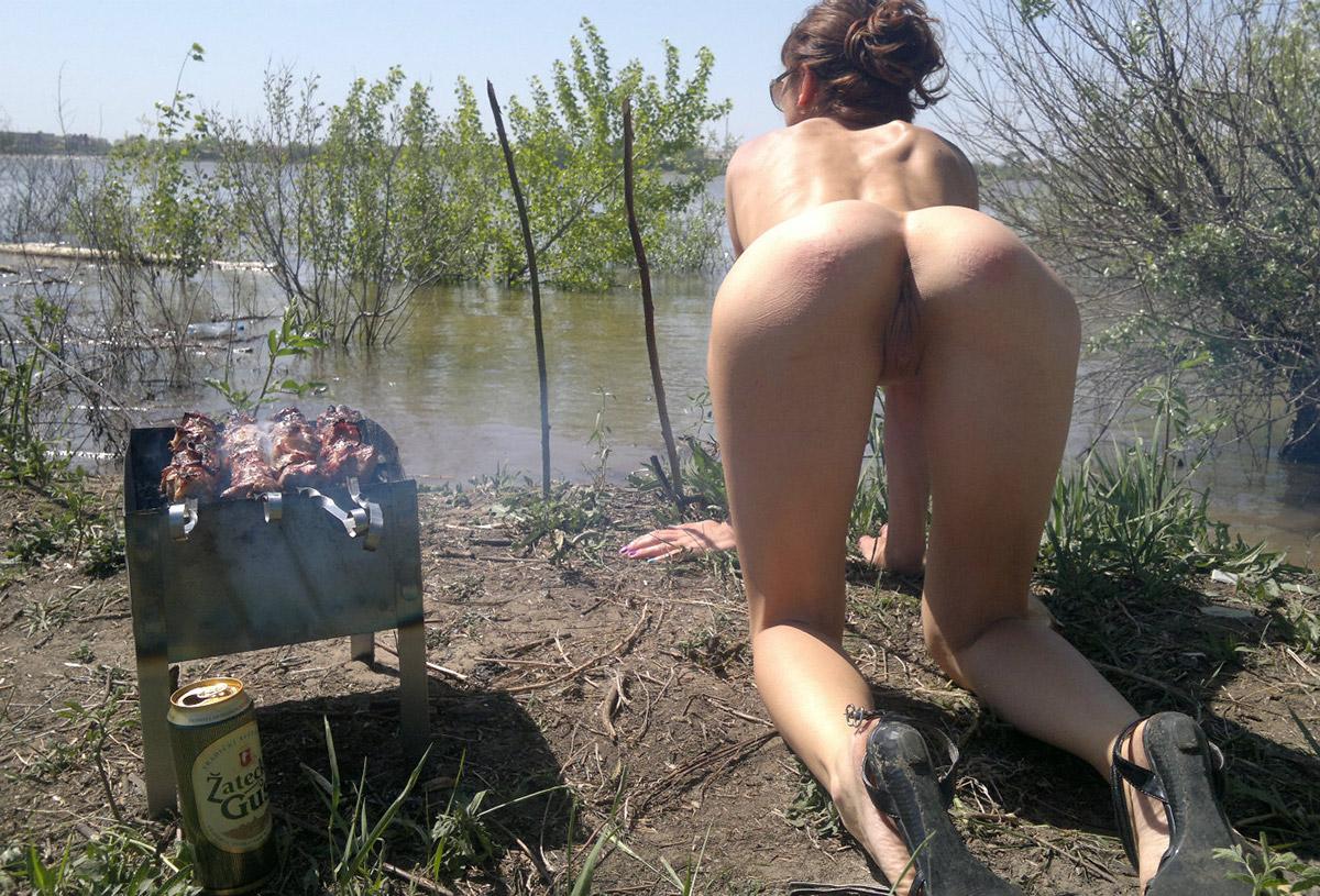 Шлюхи природе русские на