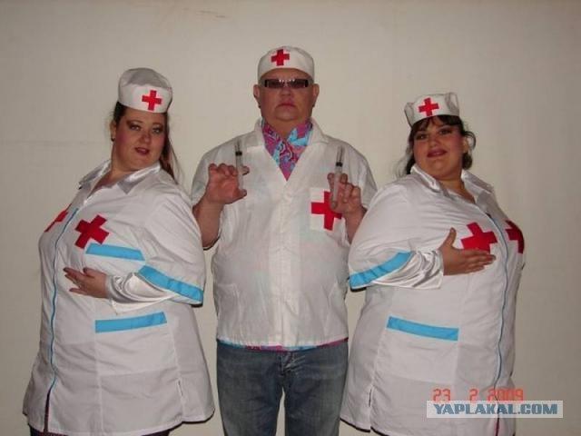 Фото толстых медсестер, страпонят в попу молодую русскую