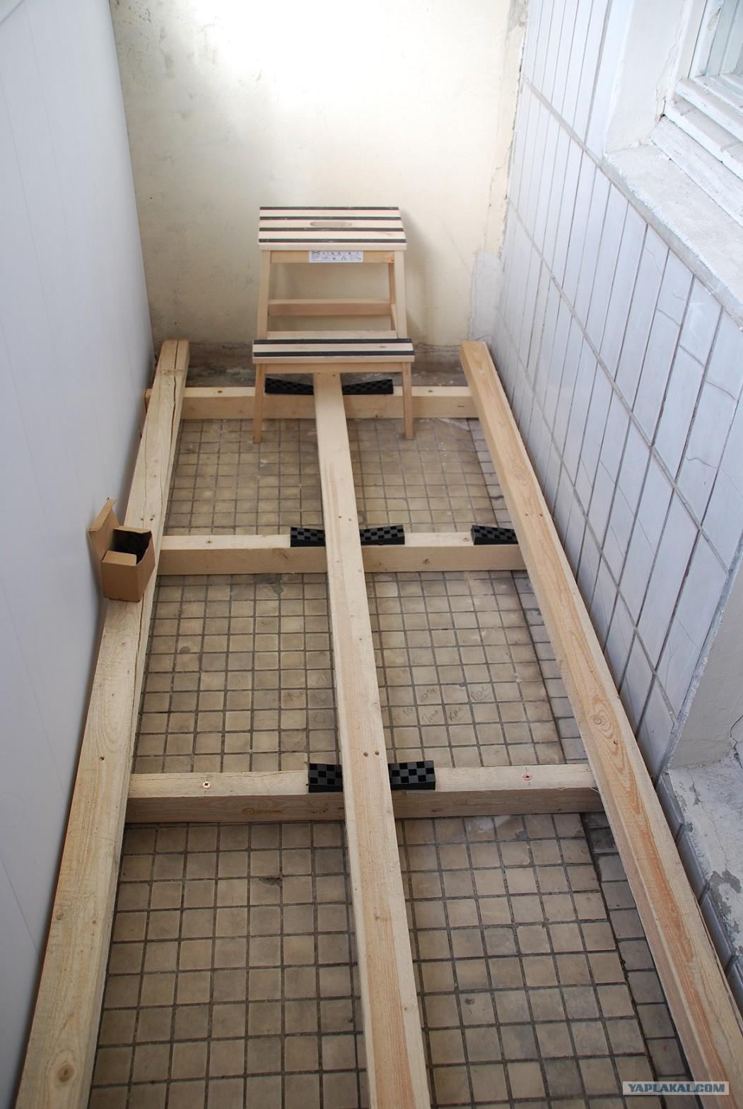 Как я утеплил пол на балконе минеральной ватой (24 фото).