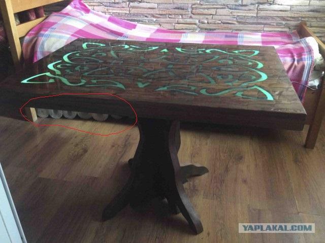 Столик с подсветкой.
