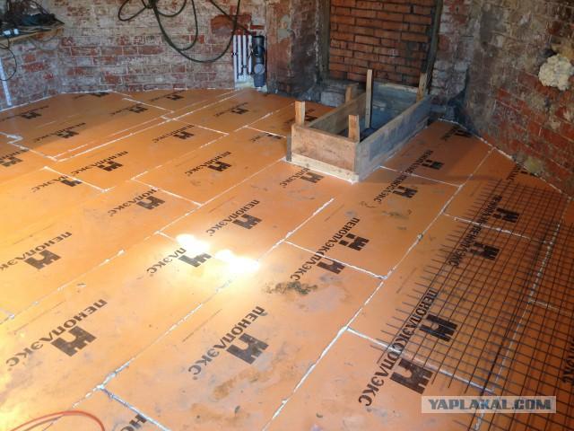 как стелить пеноплекс на бетонный пол