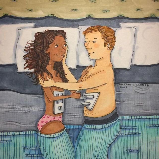 Душевные рисунки, показывающие, как выглядит любовь, когда никто не видит