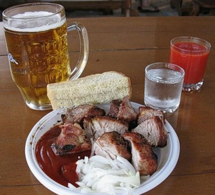 Смешная, смешные картинки пиво с водкой и закуской