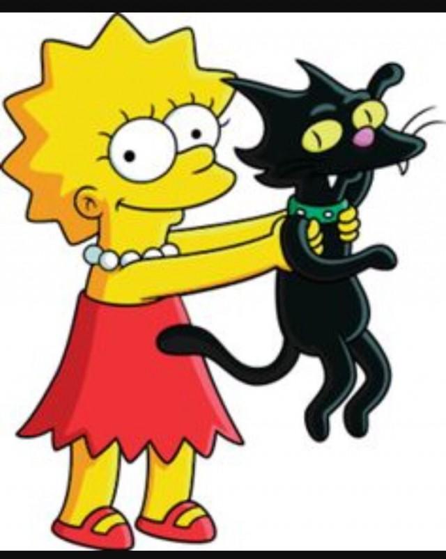 Картинки симпсоны кошка