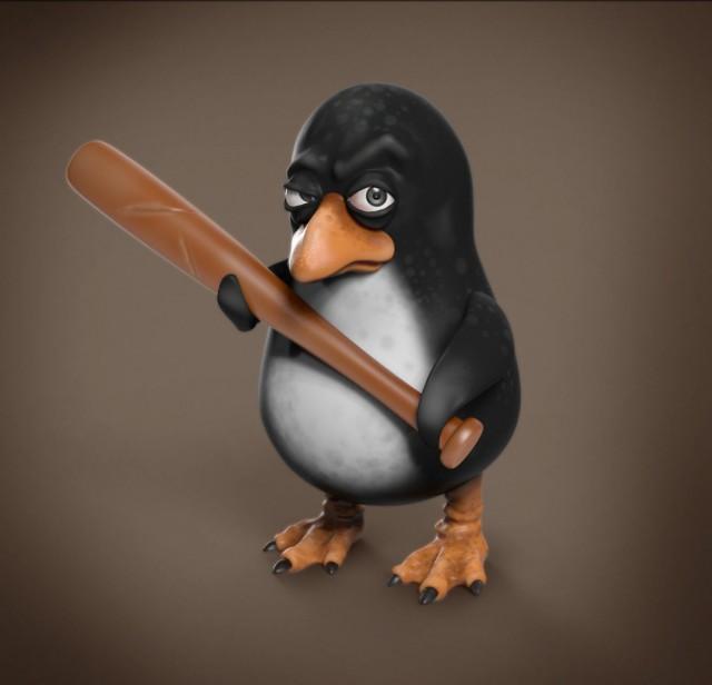 Днем рождения, прикольные пингвины рисунки
