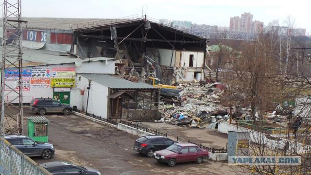 На юге Москвы начался снос Царицынского радиорынка