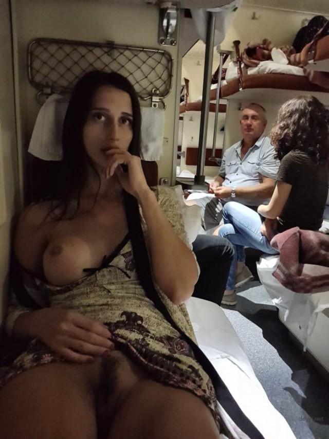 сладострастное состояние женщины подсмотренное в поезде - 13